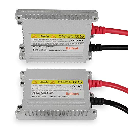 Xenon Ballast (HID Xenon Conversion Kit Replacement Ballasts - 1 Pair, 35 Watts DC Slim -)