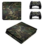 Cheap eSeeking Whole Body Vinyl Skin Decal Cover For PS4 Slim Console and 2PCS Controller Skins Stickers Jungle Camouflage