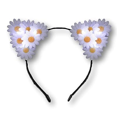 blinkee LED Daisy Flowers Cat Animal Ears Headband by: Toys & Games