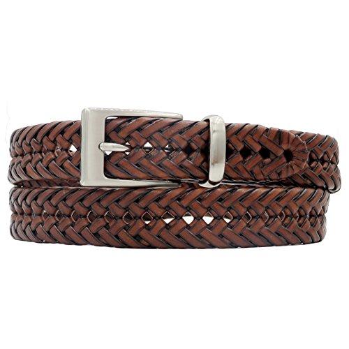 Lofty Lines Men's 1 1/4 Inch Braided Belt (34, - Braided Edge Mens