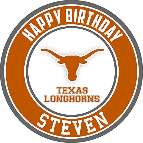 Texas Longhorns Edible Cake Topper Personalized Birthday 8