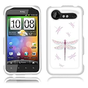 Fincibo (TM) HTC Droid Incredible 2 ADR6350 Premium Hard Plastic Snap On Protector Cover Case - Dragonfly, Front And Back