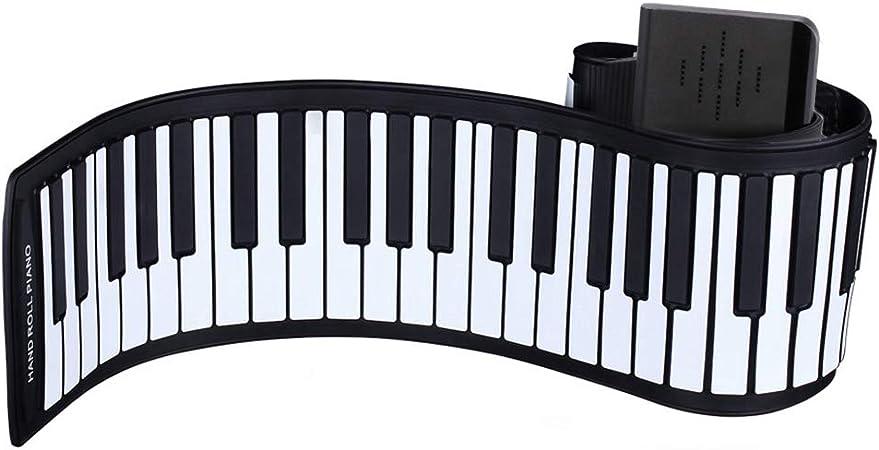 KUANDARM Piano Plegable Hand Roll Piano, tecla portátil 66/88 ...