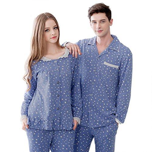 Dremart Couples Loungewear Matching Pajamas (2 pcs, Womens L, Mens L) by Dremart