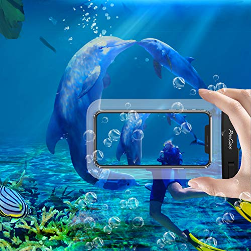 ProCase Universal Waterproof Pouch IPX8 Waterproof Cellphone Dry Bag Underwater Case for iPhone 12 Pro Max 11 Pro Max Xs…