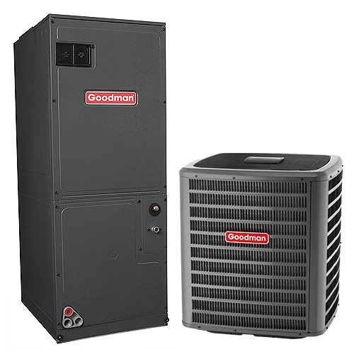 1.5 Heat Pump Ton (Goodman 1.5 Ton 14 SEER Heat Pump System with Multi-Position Air Handler GSZ140181 ARUF25B14)