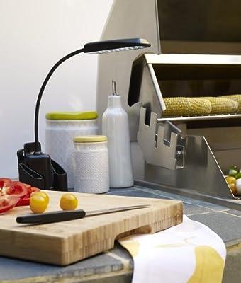 Black Gooseneck LED Clip-On BBQ Light