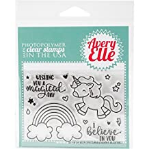 "Avery Elle Clear Stamp Set 4""X3""-Be A Unicorn"
