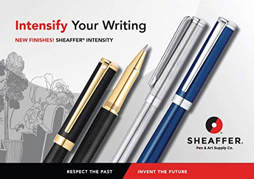 Sheaffer Intensity Engraved Translucent Blue Rollerball Pen with Chrome Cap and Trim by Sheaffer (Image #5)