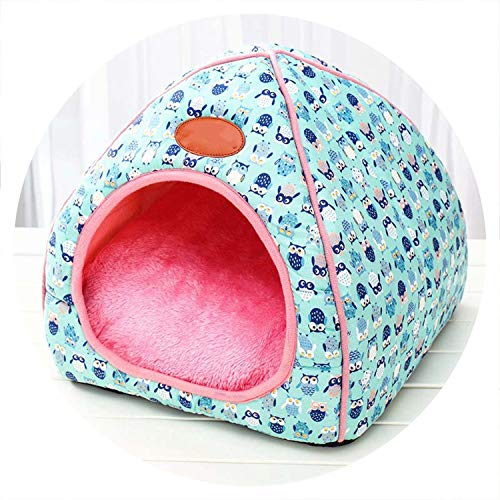 colorful-space Dog House New Folding Dog Bed for Dog House with Mat Pets Product Cats House Teddy Supplies,02,XL