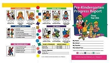 Amazon.com : Pre Kindergarten Progress Report 10 Pk For 3 Year ...