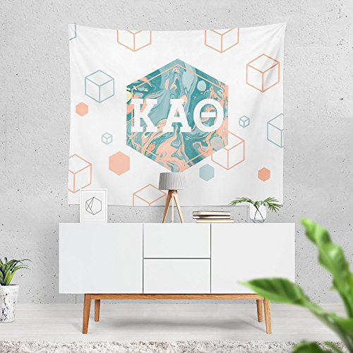 Kappa Alpha Theta Sorority 6-Points Marble Dorm Apartment Wall Tapestry 60 Inches x 80 Inches