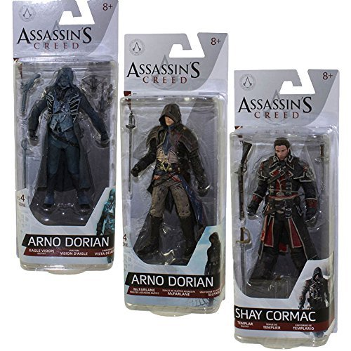 Assassin's Creed Series 4 Shay Cormac, Arno Dorian and Eagle Vision Arno Action Figures Set of 3 by Assassin's Creed