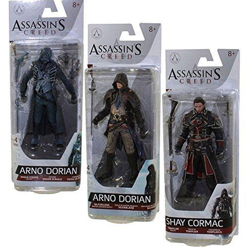 Assassin's Creed Series 4 Shay Cormac, Arno Dorian and Eagle Vision Arno Action Figures Set of 3 (Mcfarlane Assassins Creed Unity)