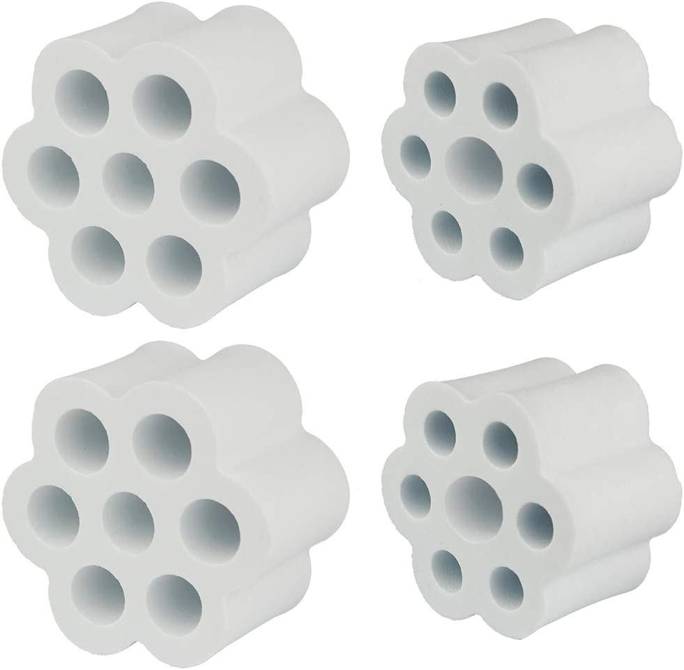 Set of 4 for 1 PVC Pipe Masbros Cup Turner Foam Inserts Set for 1 PVC Pipe Fit All Tumblers Bottles Cups with Mouth Opening Width from 2 to 4