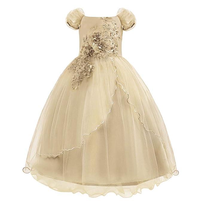 Amazon.com: FEITONG - Vestido de encaje con estampado floral ...