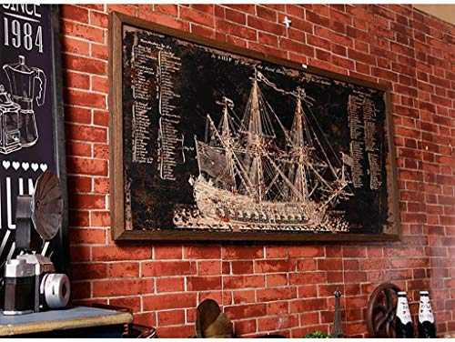 YANG Sailboat Wall Painting Wall Plaque Wall Decorations Pendant Living Room Stereoscopic Wall Wall Decorations Wall Background Wall Pendant Retro Industrial Wind Style