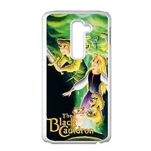Durable Rubber Cases LG G2 Cell Phone Case White Egidx The Black Cauldron Protection Cover