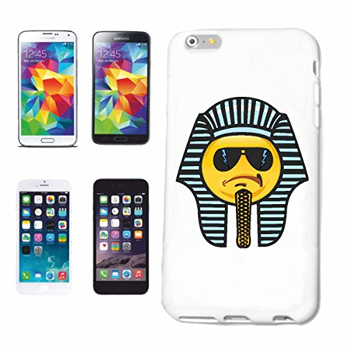 "cas de téléphone Samsung Galaxy S3 Mini ""SMILEY Déguisé en EGYPTIENS ""sourire EMOTICON APP sa SMILEYS SMILIES ANDROID IPHONE EMOTICONS IOS"" Hard Case Cover Téléphone Covers Smart Cover pour Samsung Ga"