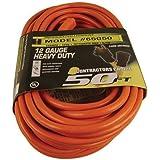 US Wire 65050 12/3 50-Foot SJTW Orange Heavy Duty Extension Cord