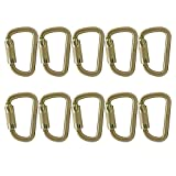 Fusion Climb Tacoma Steel High Strength Auto Lock Modified D-shaped Carabiner 10-Pack