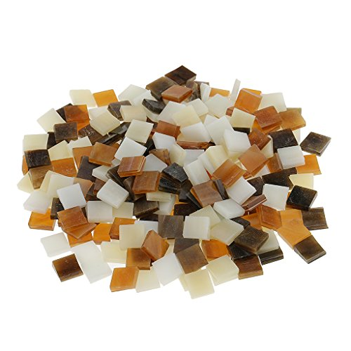 Brown Mosaic Glass - Fityle 250 Pieces Many Color Square Glass Mosaic Tiles For Mosaic Making Craft - Brown