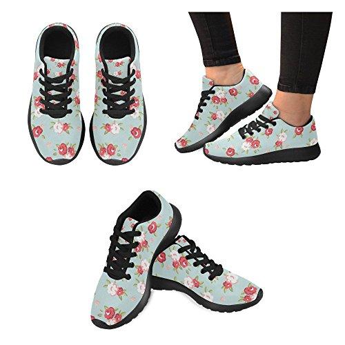 Scarpe Da Corsa Da Donna Winterprint Running Da Jogging Leggero Sportivo A Piedi Sneakers Atletiche Fiore Rosso