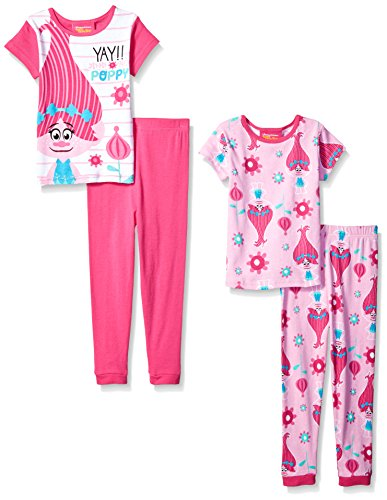 AME-Girls-Trolls-4-Piece-Cotton-Pajama-Set