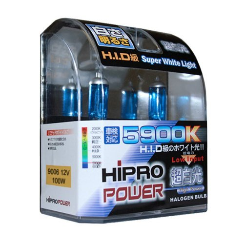 Hipro Power 9006 5900K 100 Watt Super White Xenon HID Headlight Bulb - Low Beam