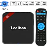 2018 Leelbox Q3 4K Android 7.1 TV Box 64Bit S912 Octa-core CPU 2GB Ram+16GB Rom 1000M lan Supporting 4K (60Hz) Full HD/ H.265 /2.4G+5G Dual-Band WiFi/BT 4.0