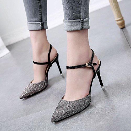 Donyyyy Zapatos de tacón alto talón Thirty-seven