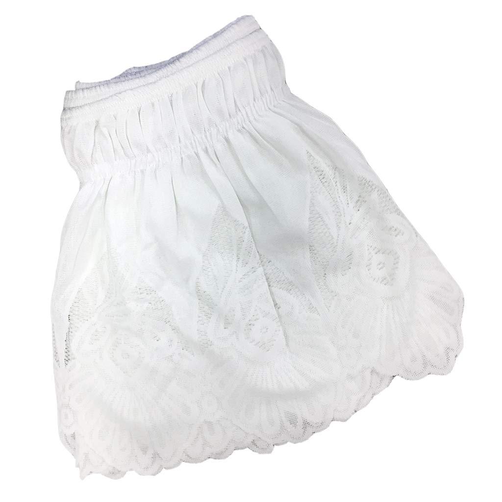 Baoblaze レースフリル付きゴムバンドベッドスカート 簡単にほこり取り S/M/L/XL サイズ プラットフォームシートなし 6baa3b6857396f24cbdf71c86e8a0844 B07G51BCSD White 1_200x200cm