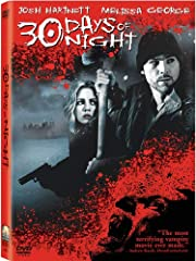 Josh Hartnett (The Black Dahlia, Pearl Harbor) crosses over to the dark side in this bone-chilling adaptation of the cult-hit graphic novel, brought to the screen in all its demonic glory. In a small Alaskan town, thirty days of night is a na...