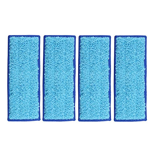 Aunifun 4 Pack Washable Wet Mopping Pads Replacement for iRobot Braava Jet 240 241
