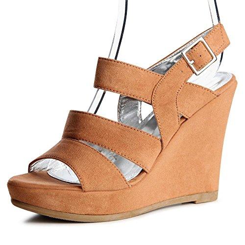 topschuhe24 - Zapatos de vestir para mujer, color Marrón, talla 40