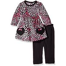 Bon Bebe Baby Girls' 2 Piece Velour Dress and Legging Set