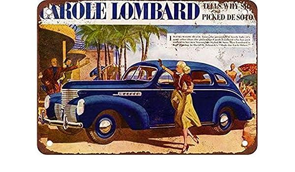 1939 Carole Lombard for De Soto Vintage Look Reproduction Metal Sign
