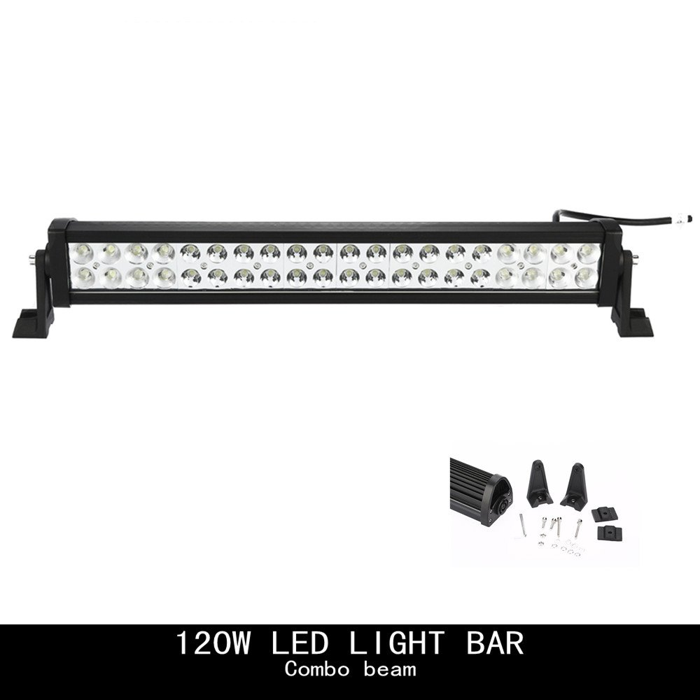 Amazon.com: Topcarlight 24inch 120w LED Work Light Bar Flood/spot Combo  Beam Lights 4wd SUV UTE Off Road Car Boat Lamps: Automotive