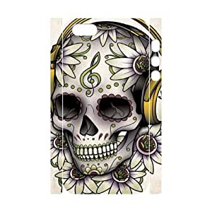 J-LV-F Cell phone Protection Cover 3D Case Skull For Iphone 5,5S