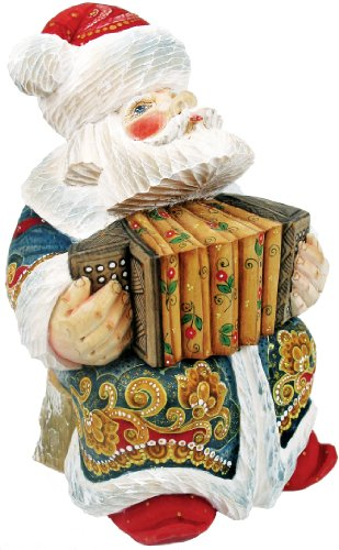 - G. Debrekht Accordian Sant a Figurine, 6-Inch Tall, Limited Editon of 1,200, Hand-Painted