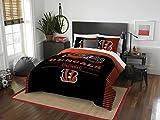 NFL Cincinnati Bengals Draft Full/Queen Comforter and 2 Sham Set