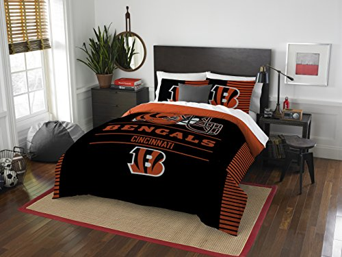 The Northwest Company NFL Cincinnati Bengals Draft Full/Queen Comforter and 2 Sham Set