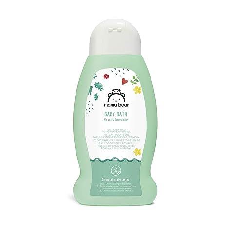 Marque Amazon- Mama Bear Bain pour bébé (Formule qui ne pique pas les  yeux), 3 flacons 3x300ml