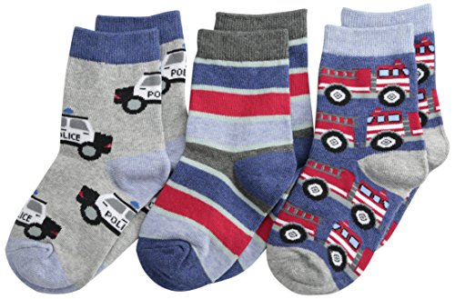 Jefferies Socks Little Boys Rescue Vehicles Crew  (Pack of 3)