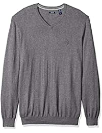 Men's Big and Tall Long Sleeve Soft Fine Gauge Solid...