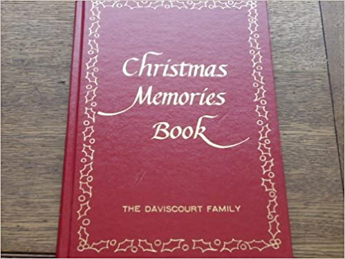 christmas memories book by mystic seaport museum stores gold leaf title with additional lettering the daviscourt family under title lynn anderson - Christmas Memories Book