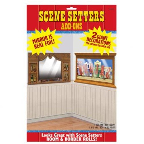 (5' Western Saloon Mirror & Window Add-Ons)