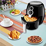 2.6 Liter Hot Air Fryer With Timer & Temperature Control Auto Shut Off Black,Vovomay Electric Hot Air Fryer and additional accessories,Frying basket with handle,Frying pot