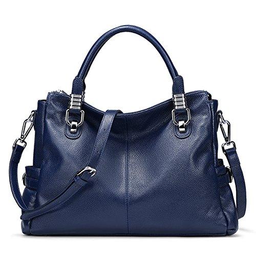 Blue Leather Handbags - 2