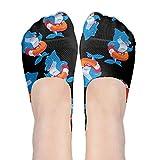 JF-X No-Show Socks Shark Swimming Laps Women's Low Cut Boat Socks